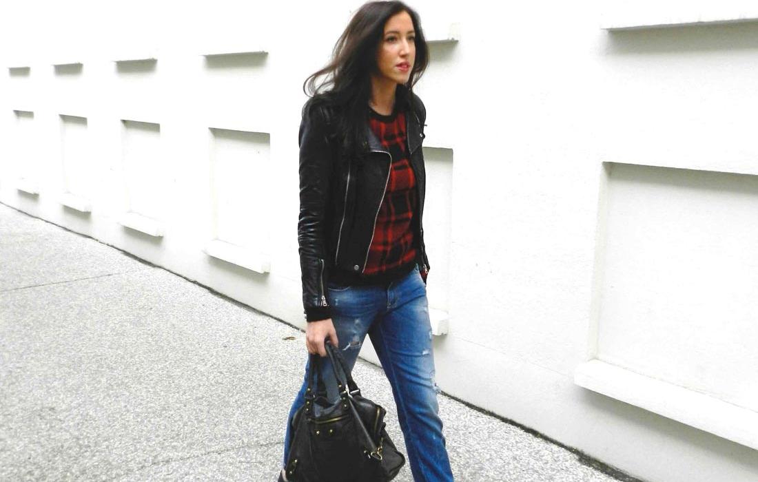 Comment porter un jeans boyfriend street style photos ely gypset - Comment porter un pull oversize ...